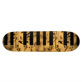 Music Piano Keys Notes Teacher Destiny Instruments 20 Cm Skateboard Deck