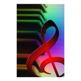 Music Piano Keys Notes Teacher Destiny Instruments Customized Stationery