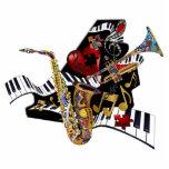 Music Piano Saxophone Trumpet 3D Art Sculpture Standing Photo Sculpture
