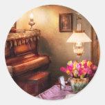 Music - Piano - The Music Room Round Sticker