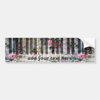 music piano vintage floral bumper sticker