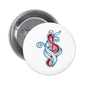 Music picker 6 cm round badge