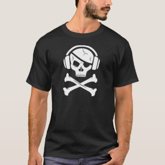 Music Pirate Piracy anti-riaa logo T-Shirt