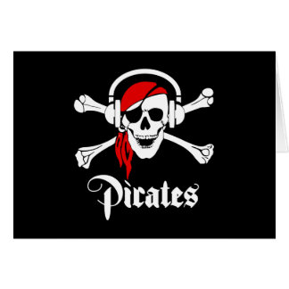 Music Pirates Greeting Card
