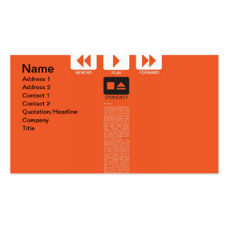 Music Play Pack Of Standard Business Cards