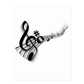 music postcard