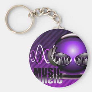 Music Pumping In My Ears Keychains
