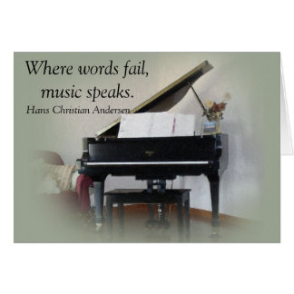 Music quote - Greeting card