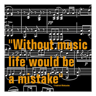 music quote poster