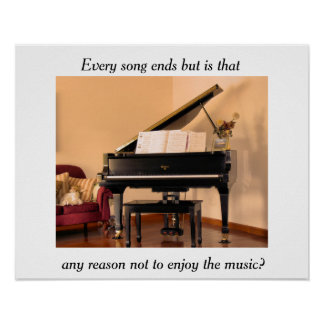 Music quote poster print