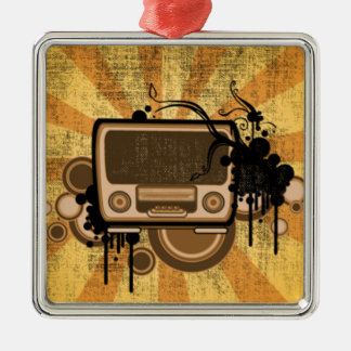 Music Radio Style Christmas Ornament