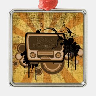 Music Radio Style Christmas Ornament