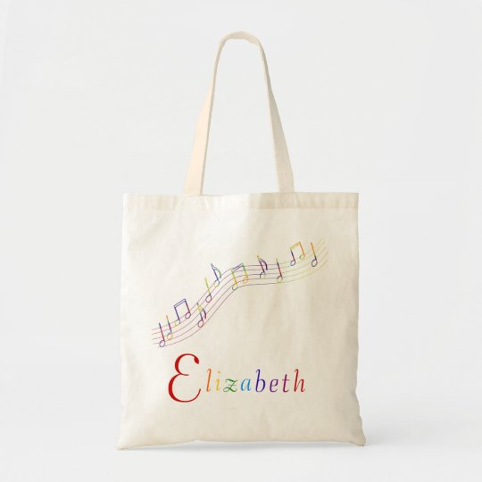 Music Rainbow Personalised Bag