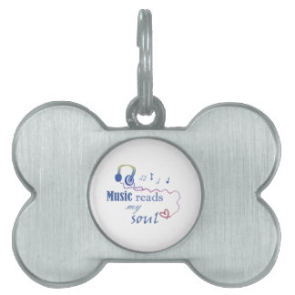 Music READS my soul Pet Tag