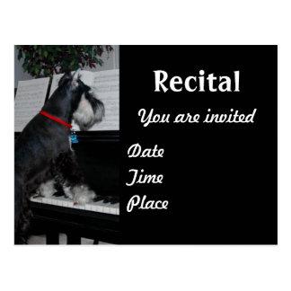 Music recital post card