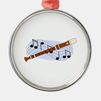 Music Recorder Instrument Christmas Ornament