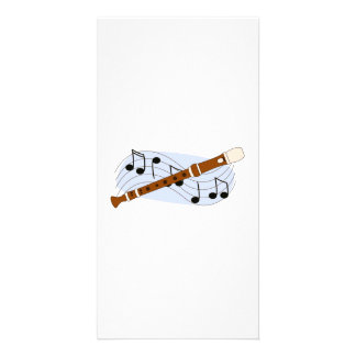 Music Recorder Instrument Photo Card Template