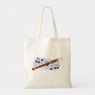 Music Recorder Instrument Tote Bag