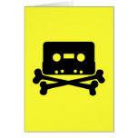Music - Retro Cassette & Cross Bones Card