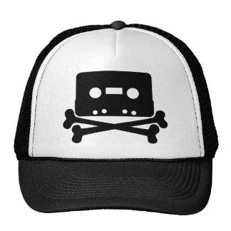 Music - Retro Cassette & Cross Bones Mesh Hat