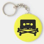 Music - Retro Cassette & Cross Bones Keychain