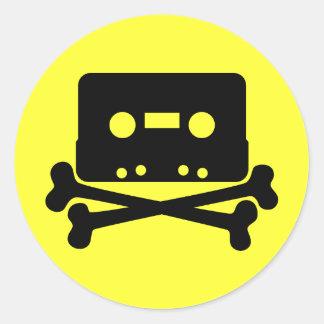 Music - Retro Cassette & Cross Bones Stickers