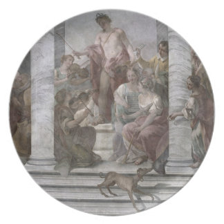 Music Room (fresco) (and detail 60260) Plate