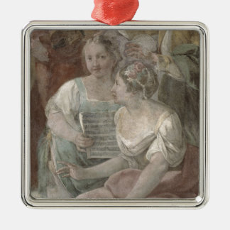 Music Room (fresco) (detail of 60259) Christmas Ornament