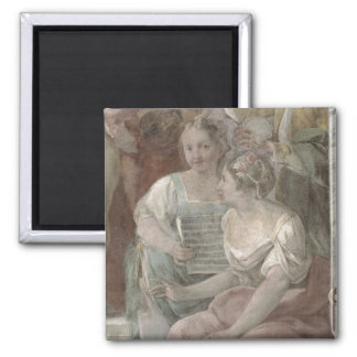 Music Room (fresco) (detail of 60259) Magnet