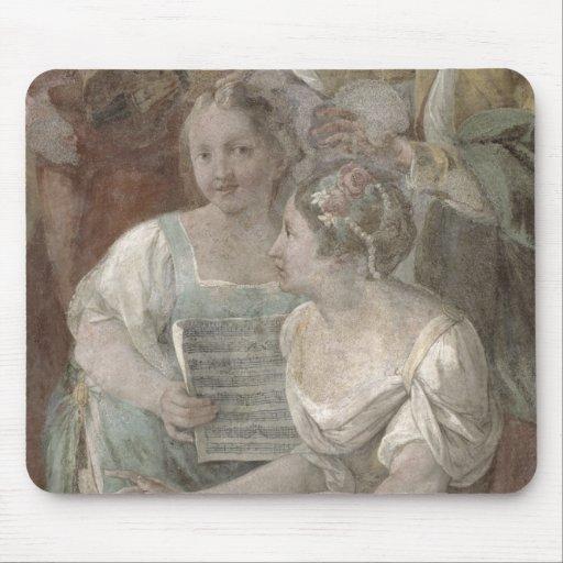 Music Room (fresco) (detail of 60259) Mousepad