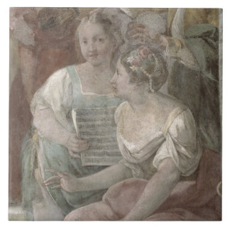 Music Room (fresco) (detail of 60259) Tile