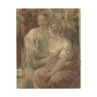 Music Room (fresco) (detail of 60259) Wood Print