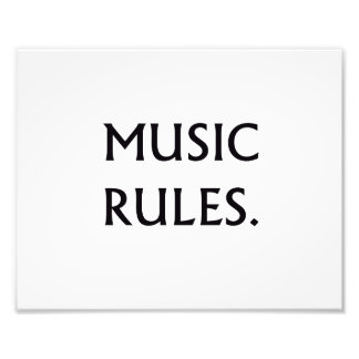 Music Rules black text Photograph