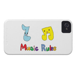 Music Rules Cute Music Notes Case-Mate iPhone 4 Case