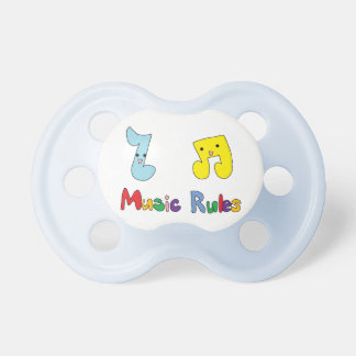 Music Rules Cute Music Notes Dummy