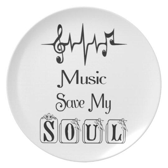Music Save My Soul / Melamine Plate