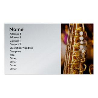 Music - Sax - Sweet jazz Business Card Template