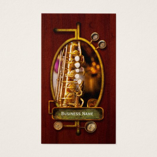 Music - Sax - Sweet jazz Business Card