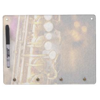 Music - Sax - Sweet jazz Dry Erase Board With Keychain Holder