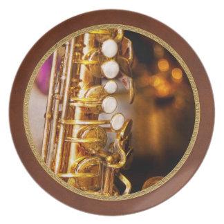 Music - Sax - Sweet jazz Dinner Plates