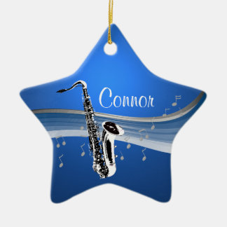 Music Saxophone Christmas Ornament