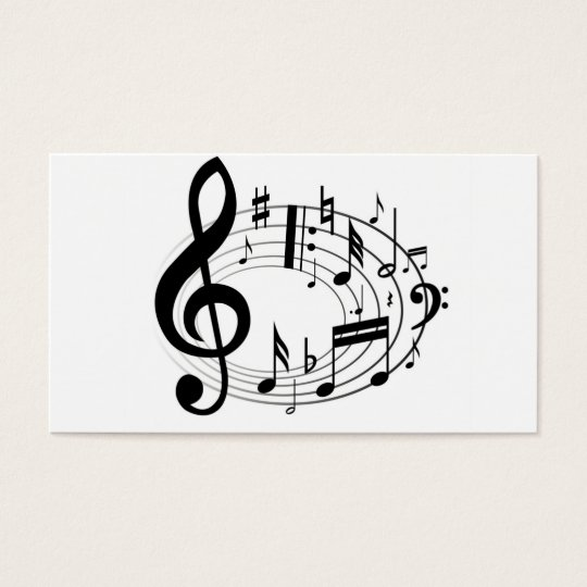 Music Scale Music Notes Black & White Business Card
