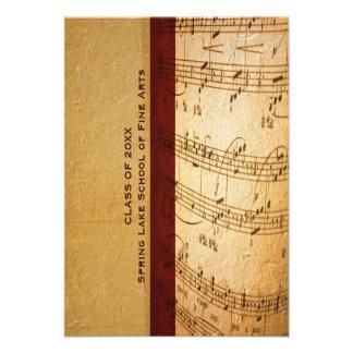Music School or Performing Arts Academy Graduation Custom Invite