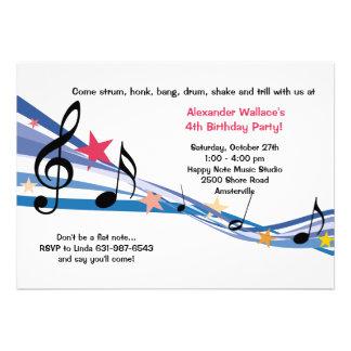 Music School Party Invitation