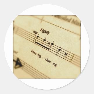 Music Score Art Gifts Stickers