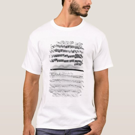 Music score for Telemann's Suite for two T-Shirt