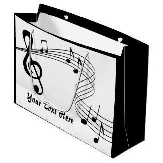Music Score Large Gift Bag