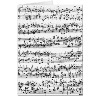 Music Score of Johann Sebastian Bach Card