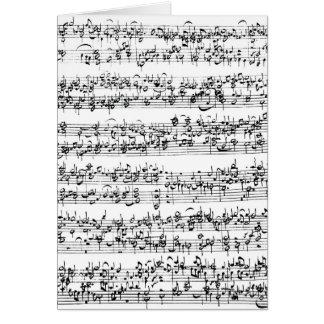 Music Score of Johann Sebastian Bach Greeting Card