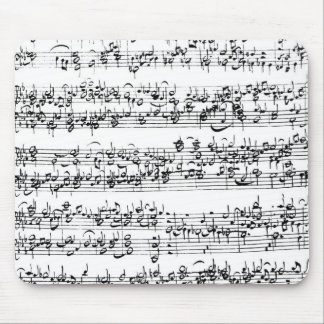 Music Score of Johann Sebastian Bach Mouse Mat